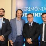 Guilherme Miranda, da Embratur, Bruno Giovanni, do RIOgaleão, Vinicius Lummertz, ministro do Turismo, e Rafael Felismino, da Embratur
