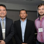Hector Hamada, da MAP, Cleber Souza e Cassio Greco Campos, da Gol