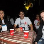 Ingrid Goulart, da Beloni e Monteiro, Ramiro Barroso, da Connection Viagens, e Rogeria Barbosa, da ZT Turismo