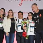 Jessica Silva e Carla Cecchele, da RCD, Maria Silva e Fernando Moura, com Aroldo Schultz, da Schultz