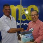 Luiz Maio, diretor de Desenvolvimento Turístico de Ilhabela, e Alfredo Nicolas, do turismo do Peru fecharam parceria durante a Aviesp 2018