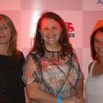 Majorie Pimentel da PimentelTour, Evarise Slowik da Alegra Turismo e Raquel Silva da Diamente Turismo