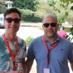 Marc Steffen, do Turismo de Berna, e Vicente Dubi, do Turismo de Genebra