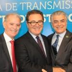 Marcelo Costa, presidente da Embratur, Vinicius Lummertz, ministro, e Alberto Alves, do MTur
