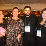 Maria Ines, da Vendra Turismo, Vanderlene Bortoletto, da Nova Brasil, Daniel Lima, da Alcantara e Lima, e Gislaine Xavier, da FOB Turismo