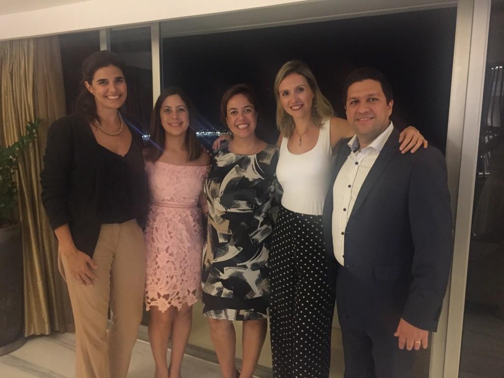 Mariana Motta, Karen Ortiz, Vivian Mendes, Lidiane Andreatta e Fernando Cassuli