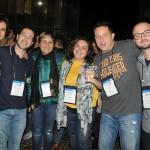 Mariana Nogueira, Rodrigo Santos, da RS Tour, Joelma Tavares, da Home Office Turismo, Jiane Mello, da S2 Assessoria de Viagens, Rodolfo Guarino, do Grupo Girasol, e Licio Oliveira, da Start Viagens