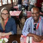 Melissa Schneider, da Travel Workers, e Leonardo da Silva Dmtur