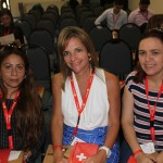 Michelle Oliveira, da AG1, Giovanna Oliveira, da Infinity, e Josele Rosa, da Triangulo Turismo