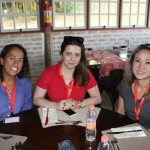 Mirlene Gonçalves, da Newit, Jenifer Medina, da Schultz, e Gabriella Alves, da Primus