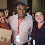 Priscila Pereira, da Travel Place, Andre Almeida da Avc Air, Isabella Antas, da Plantel Turismo