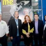 Régis Medeiros, secretario de Turismo de Fortaleza, Enid Câmara, da Abeoc, Eliseu Baros, da ABIH-CE, e Rafael Bezerra, da ARX Eventos