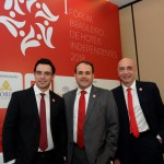Rafael Menna, VP, Roberto Bertino, presidente, e  Ricardo Pompeu, diretor sênior de Vendas e Marketing do Nobile Hotéis