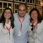 Renata Staniscia, Gilberto Bocchino, da European Travel, e Celia Oliveira, da Skiviking Turismo