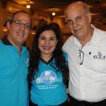 Ricardo Bucci e Jeane Barbosa, do Café com Turismo, e Sérgio Leoneti, da GTA