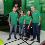 Ricardo Iamauti, Vanessa Madureira, Natálie Amorim e Augusto Bezerra, da Localiza