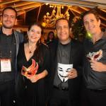 Rodrigo Bonelli, da Schultz, Ana Paula Pereira e River Pereira, da Home Travel, e Nelson Moreira, da Schultz