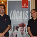 Rodrigo Galvão e Marcelo Abreu, da Emirates
