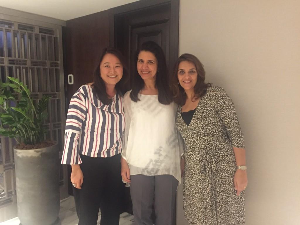 Rosana Okamoto, Sintia Gomes e Carolina Mescolin