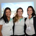 Rute barros, Nathalia Lemeszenski e Fernanda Belaunde, do Iberostar Hotels & Resorts