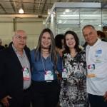 Sebastião Pereira, Kelly Castanger e Juliana Assumpção, da Aviesp, com Erly de Jesus, da Setur-RJ