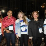 Stella Drago, Ivonira da Costa, Ana Carolina, da ACD Viagens, Rosileine Sapia, e Angela Silva, da Vthur Viagens