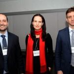 Thiago Pedroso, Fabiana Todesco e Thiago Pereira, da Secretaria de Aviação Civil