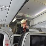 Tradicional anúncio de Gargioni durante voo inagural para Vitória (ES)