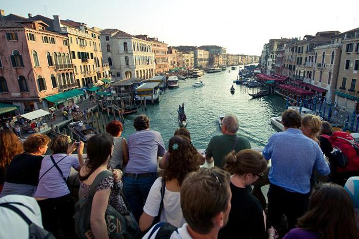 Veneza, na Itália, perdeu quase metade de sua população residente Foto - Getty Images
