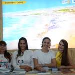 Vera Lucia Fernandes, da Fernandes Comercial, Priscilla Chiavegatto, Yanna Guimarães, e Renata Krubiniki, do Setur-Ceará