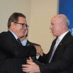 Vinicius Lummertz, ministro do Turismo, com o deputado Herculano Passos