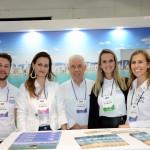 Adécio Masiero, Andressa Granenann, João Carlos, Ludiane Gourlart e Leticia Conde, do Balneário Camboriú CVB