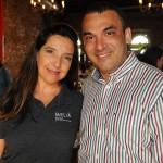 Adriana Machion, do Meliá, e Ricardo Delfin, da MGM