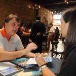 Alexandre Dias, da Tournet, conversa com Maja Gvozdenovic, do Meliá Punta Cana
