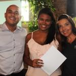 Aline Cruz, do Maringá Turismo, com Daniel Santos e Adriana Machion, do Meliá, ganhou diárias para o Meliá Brasil 21