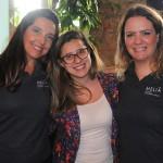 Bruna Domingues, da CWT, com Adriana Machion e Talita Moran, do Meliá, ganhou diárias para o Tryp Tatuapé