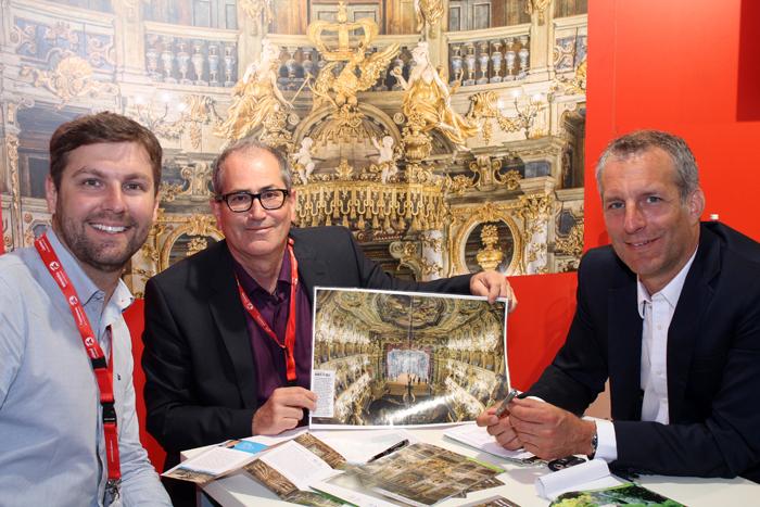 Bruno Delfini da BWT com Frank Nicklas e Manuel Becher de Bayreuth