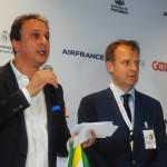 Camilo Santana, governador do CE, e Jean-Marc Pouchol, diretor da Air France-KLM na América do Sul