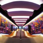 Museu do FC Barcelona no Camp Nou, mostrando nas paredes as conquistas do clube