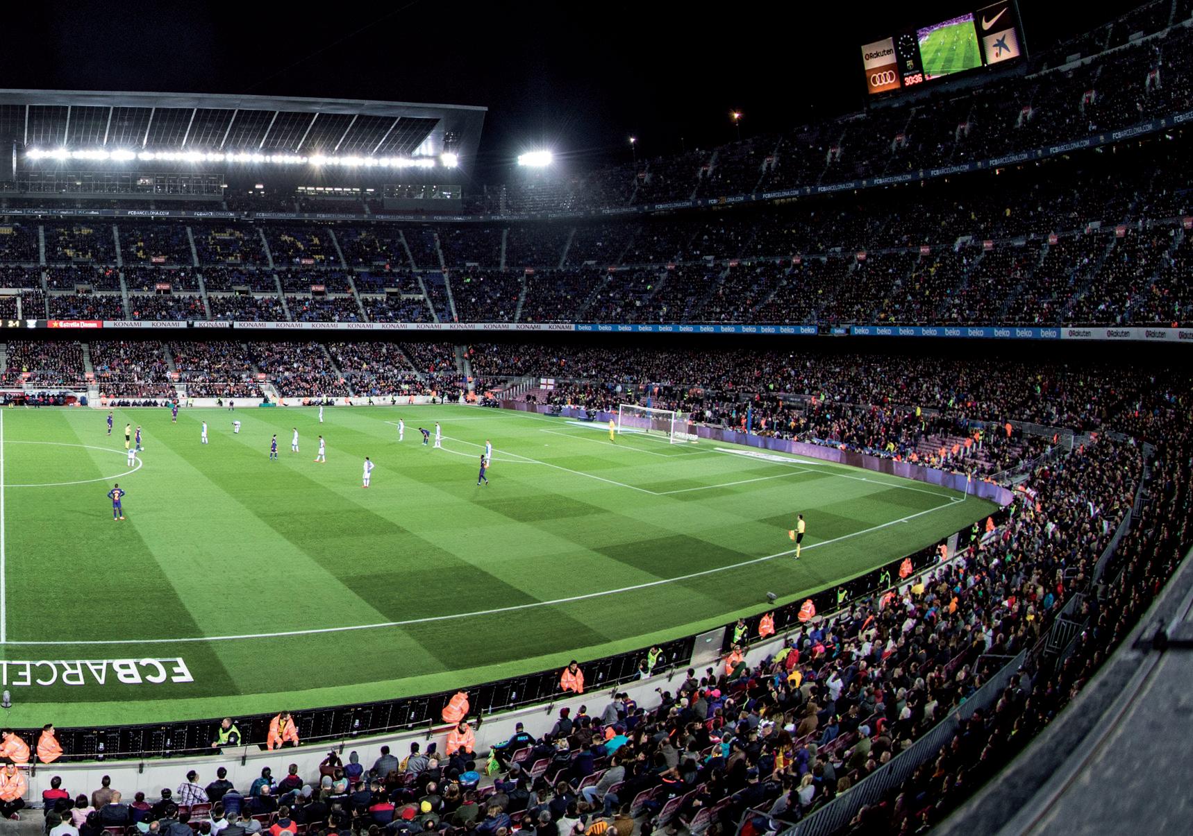 Visão da arquibancada do Camp Nou