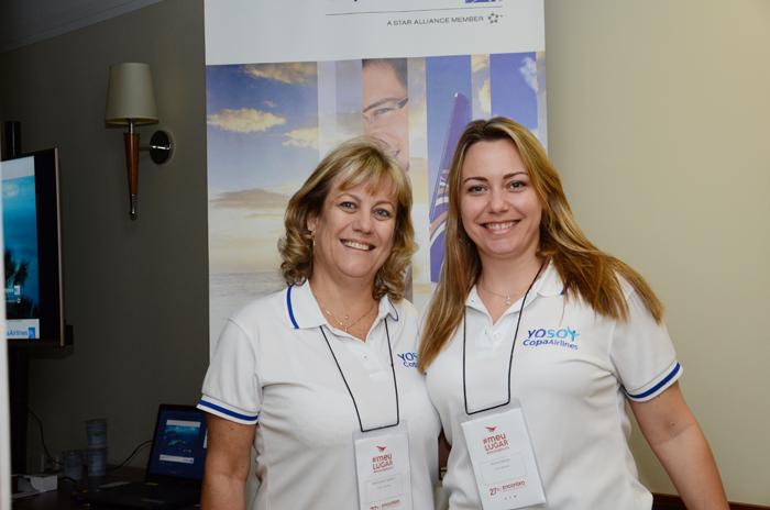 Cristina Cortizo e Thais Jareno, da Copa Airlines