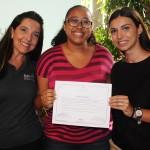 Driellen Ribeiro, do CWT, com Adriana Machion e Maja Gvozdenovic, do Meliá, ganhou diárias para o Paradisus Palma Real, em Punta Cana