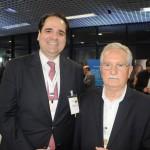 Eduardo Bernardes, da Gol, e Henrique Abreu, da Casablanca Turismo