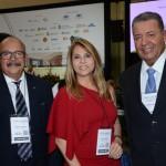 Eduardo Fontes Neto, da ABIH Nacional, Morgana Linhares, do Fortaleza Mar Hotel, e Alexandre Sampaio, da FBHA