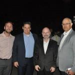 Fábio Marasca, Diogo Castagnet e Marcelo Figueiredo, da Avianca, com Altamiro Severino, da South African Airways