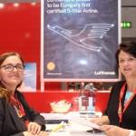 Fabiola Nau e Andreia Schneider, da Lufthansa