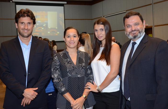 Fernando Gagliardi, Cristiane Batista, Maja Gvozdenovic, e Sandro Rodrigo Stanis, do Meliã Hotels