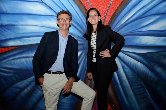 Franck Pruvost, diretor geral da Família Ibis na América Latina, e Roberta Vernaglia, vice-presidente de Marketing América do Sul da AccorHotels