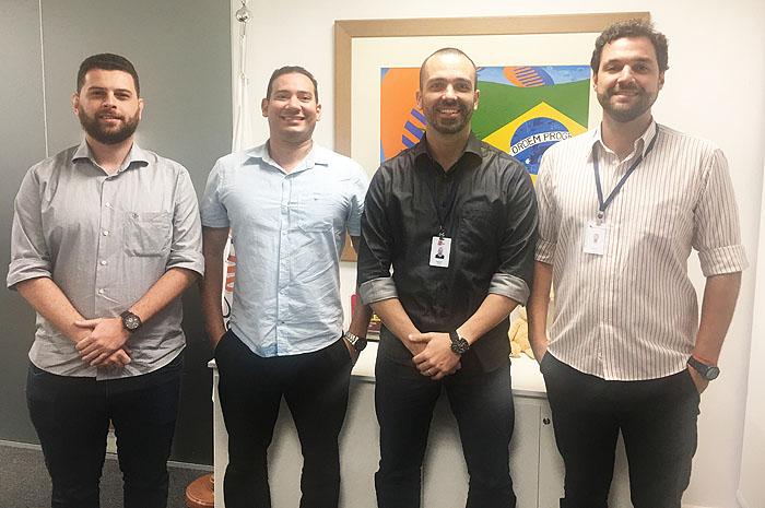 Guilherme Bianchini, Rodolfo Aquino,  Raphael Magalhães e Marcelo Cid