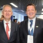 Han Peters, embaixador da Holanda no Brasil, e Pieter Elbers, CEO da KLM